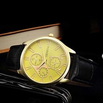 Jyuter12 Herren Gold Steel Dial Quarzuhr Herrenarmband Business Watch Sportuhr - 5