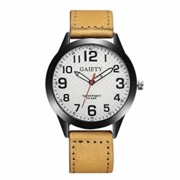 Jyuter12 Herren Leder Uhr Edelstahl Quarzuhr Herren Sportuhr - 1
