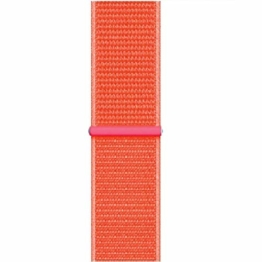 MKSW StrapLightweight, Breathable Nylon Replacement Strap with Adjustable Closure, Stylish Nylon Sports Strap Galaxy Watch Active Spicy orange - 1