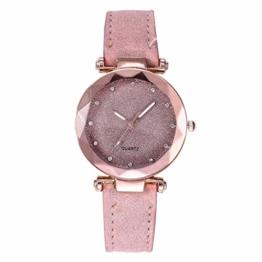 Notdark Damen Uhren Armbanduhr Edelstahl Elegant Einzigartige Digital Literal Multi Layer Dial Männer Quarz Mesh GüRtel Uhr (Gelb) - 1