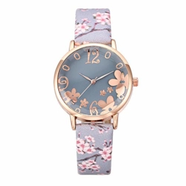 Notdark Damen Uhren Armbanduhr Edelstahl Fashion Einzigartige Digital Literal Multi Layer Dial Männer Quarz Mesh GüRtel Uhr (Hellblau) - 1