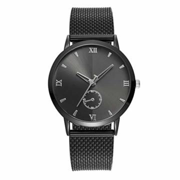 Notdark Damen Uhren Armbanduhr Edelstahl Mode Einzigartige Digital Literal Multi Layer Dial Männer Quarz Mesh GüRtel Uhr (C) - 1