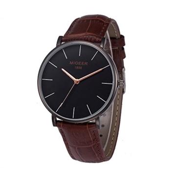 Notdark Damen Uhren Armbanduhr Edelstahl Stilvoll Einzigartige Digital Literal Multi Layer Dial Männer Quarz Mesh GüRtel Uhr (A) - 1
