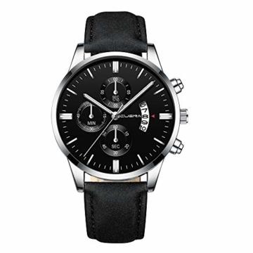 Notdark Damen Uhren, Fashion Unique Digital Literal Dial Männer Quarz Mesh Gürtel Business Watch Geschenk(M) - 1