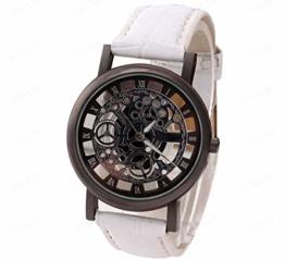 Notdark Herren Uhren Armbanduhr Edelstahl Luxury Einzigartige Digital Literal Multi Layer Dial Männer Quarz Mesh GüRtel Uhr (H) - 1