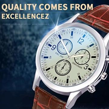 Notdark Unisex Uhren Armbanduhr Edelstahl Business Einzigartige Digital Literal Multi Layer Dial Männer Quarz Mesh GüRtel Uhr (H) - 2