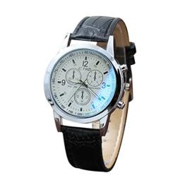Notdark Unisex Uhren Armbanduhr Edelstahl Elagant Einzigartige Digital Literal Multi Layer Dial Männer Quarz Mesh GüRtel Uhr (B) - 1
