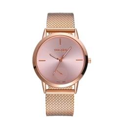 Notdark Unisex Uhren Armbanduhr Edelstahl Mode Einzigartige Digital Literal Multi Layer Dial Männer Quarz Mesh GüRtel Uhr (B) - 1