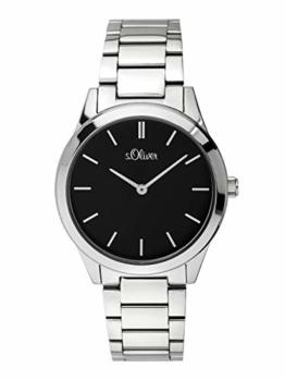 s.Oliver Damen Analog Quarz Armbanduhr mit Edelstahl Armband - 1