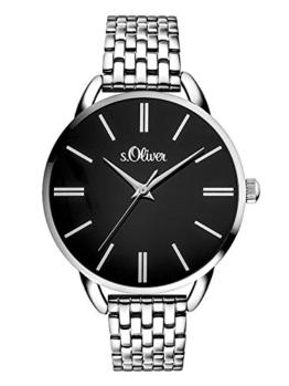 s.Oliver Damen Analog Quarz Smart Watch Armbanduhr mit Edelstahl Armband SO-3554-MQ - 1