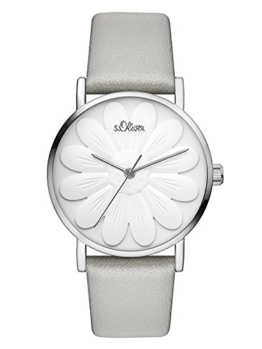 s.Oliver Damen Analog Quarz Uhr mit Leder Armband SO-3471-LQ - 1