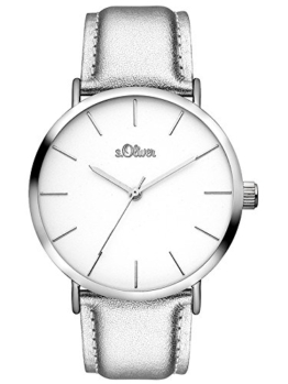 s.Oliver Damen Analog Quarz Uhr mit Leder Armband SO-3509-LQ - 1
