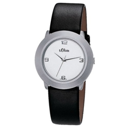 s.Oliver Damen-Armbanduhr Analog Quarz Leder SO-15060-LQR - 1