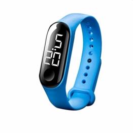 Smart Watch for Mode Männer Frauen beiläufige Sport-Armband-Uhren weiße LED-elektronische Digital-Süßigkeit-Farben-Silikon- wasserdichte Touch elektronische Armbanduhr - 1