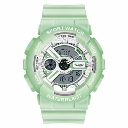 Boy Girl Uhr aus Edelstahl mit LED-Leuchte/Wecker/Betriebsstundenzähler/automatischem Kalender - wasserdicht - 1