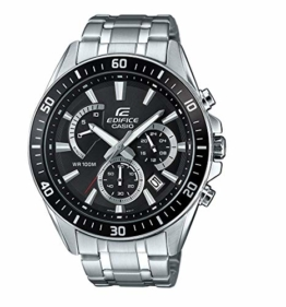 Casio Edifice Herren Massives Edelstahlgehäuse und Edelstahlarmband Uhrenarmband EFR-552D-1AVUEF - 1