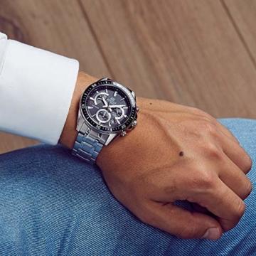 Casio Edifice Herren Massives Edelstahlgehäuse und Edelstahlarmband Uhrenarmband EFR-552D-1AVUEF - 6