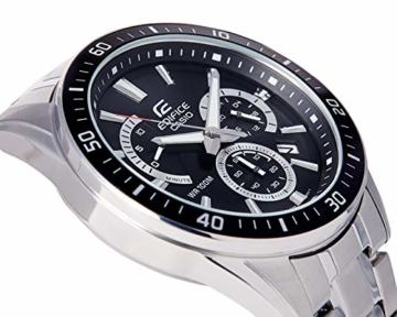 Casio Edifice Herren Massives Edelstahlgehäuse und Edelstahlarmband Uhrenarmband EFR-552D-1AVUEF - 7