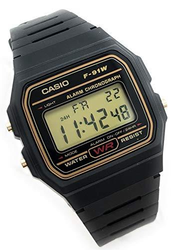 CASIO Herren Digital Uhr mit Harz Armband F-91WG-9QEF - 2