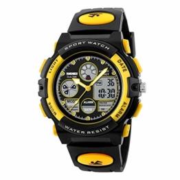 Digitaluhren für Kinder Jungen wasserdichte Outdoor-Sport Digitaluhren Analoge Uhr mit Wecker/Timer/LED-Licht, stoßfeste Kinderuhren - 1