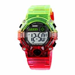 Digitaluhren für Kinder wasserdichte Outdoor-Sport-Digitaluhren Analoge Uhr mit Wecker/Timer/LED-Licht - Geschenke für Jungen - 1