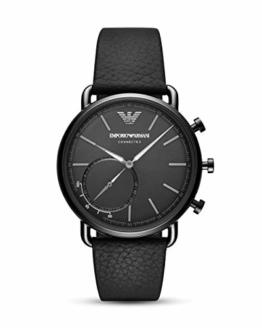 Emporio Armani Herren-Smartwatch mit Leder Armband ART3030 - 1