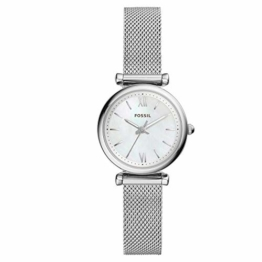 Fossil Damen Analog Quarz Uhr mit Edelstahl Armband ES4432 - 1