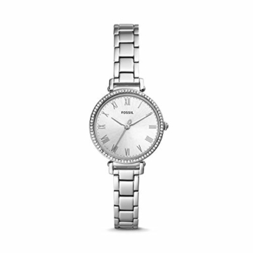 Fossil Damen Analog Quarz Uhr mit Edelstahl Armband ES4448 - 1