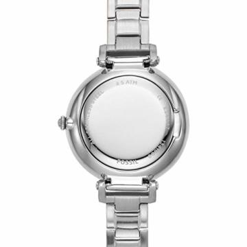 Fossil Damen Analog Quarz Uhr mit Edelstahl Armband ES4448 - 4