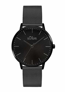 s.Oliver Damen Analog Quarz Armbanduhr mit Edelstahl Armband SO-3447-MQ - 1