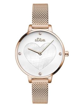 S.Oliver Damen Analog Quarz Armbanduhr SO-3473-MQ - 1