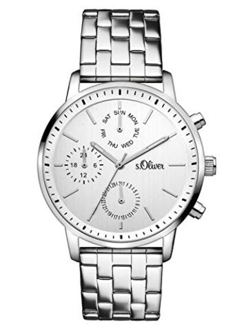 s.Oliver Damen-Armbanduhr Analog Quarz Edelstahl SO-3187-MM, silber - 1