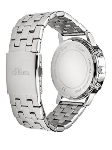 s.Oliver Damen-Armbanduhr Analog Quarz Edelstahl SO-3187-MM, silber - 2