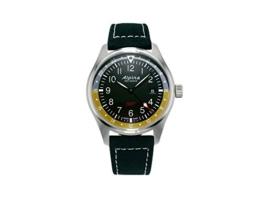 Alpina Startimer Pilot Quartz Uhr, 42mm, GMT, Grau, Nato, Gelb, AL-247BBG4S6 - 1