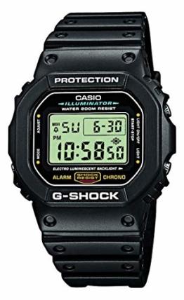 Casio G-Shock Herren Harz Uhrenarmband DW-5600E-1VER - 1