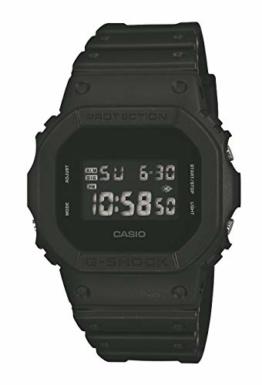 CASIO Herren Digital Quarz Uhr mit Resin Armband DW-5600BB-1ER - 1