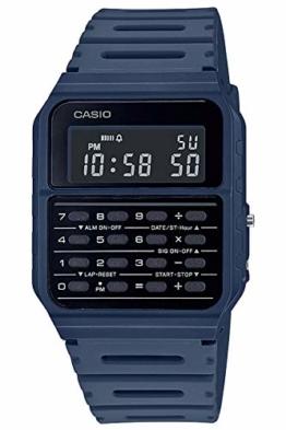 Casio Vintage Edgy Digitaluhr mit Taschenrechner Blau CA-53WF-2BEF - 1