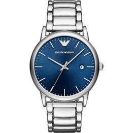 Emporio Armani Herren Analog Quarz Uhr mit Edelstahl Armband AR11089 - 1