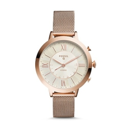 Fossil Damen Analog Quarz Smart Watch Armbanduhr mit Edelstahl Armband FTW5018 - 1