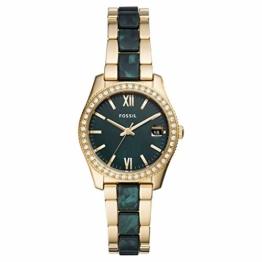 Fossil Damen Analog Quarz Uhr mit Edelstahl Armband ES4676 - 1