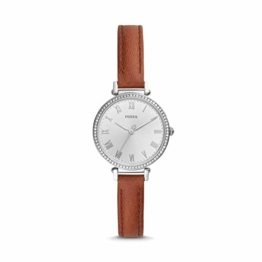 Fossil Damen Analog Quarz Uhr mit Leder Armband ES4446 - 1