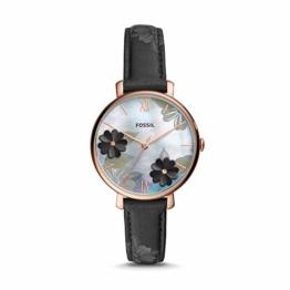 Fossil Damen Analog Quarz Uhr mit Leder Armband ES4535 - 1