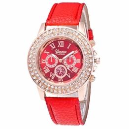 Herren- und Damen-Doppelvergrößerungsuhr Candy Color Wristband Quartz Watch - 1