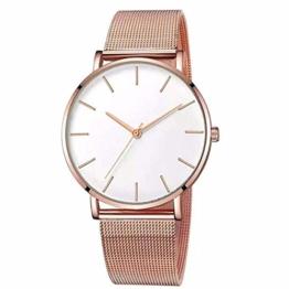 Herrenuhr Simple Quartz Watch Edelstahl Zifferblatt Mesh Belt Casual Watch Geschenk - 1