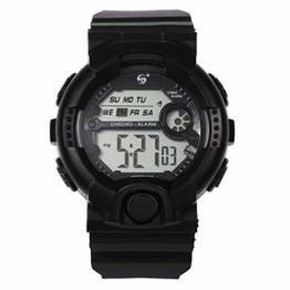 LCLrute Mode Herren Outdoor-Nachtlicht wasserdichte elektronische Uhr SYNOKE Herren Multi-Funktions-Sportuhr LED Digital Dual (Schwarz) - 1