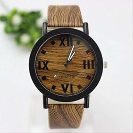 Lzlhm Vintage Holzmuster Roman Scale Watch Fashion Herren- Und Damenuhren 5 - 1