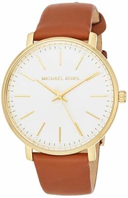 Michael Kors Damen Analog Quarz Uhr mit Leder Armband MK2740 - 1