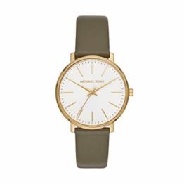 Michael Kors Damen Analog Quarz Uhr mit Leder Armband MK2831 - 1