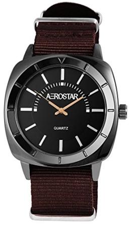 Aerostar Herren Analog Quarz Uhr mit Stoff Armband 211071000005 - 1