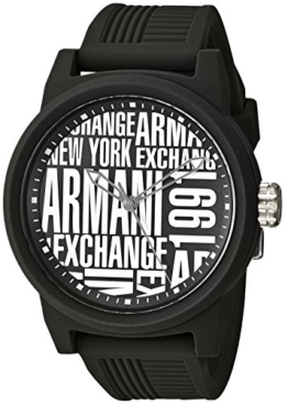 Armani Exchange Herren Analog Quarz Smart Watch Armbanduhr mit Silikon Armband AX1443 - 1